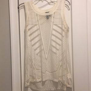 White tank top- Aztec burnout patern Sz M